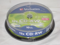 Verbatim CD-RW 700Mb 8-12x Hi-Speed Cake Box 10шт.